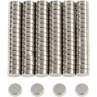 Aimants puissants, d: 5 mm, ép. 2 mm, 100 pièce/ 1 Pq.