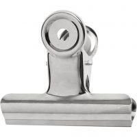 Pince métallique, L: 7,5 cm, argent, 6 pièce/ 1 Pq.