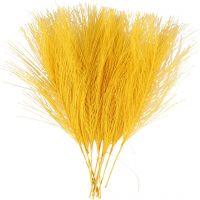 Plumes artificielles, L: 15 cm, L: 8 cm, jaune, 10 pièce/ 1 Pq.