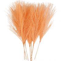 Plumes artificielles, L: 15 cm, L: 8 cm, orange, 10 pièce/ 1 Pq.