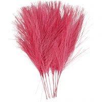 Plumes artificielles, L: 15 cm, L: 8 cm, rose, 10 pièce/ 1 Pq.