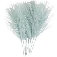 Plumes artificielles, L: 15 cm, L: 8 cm, bleu clair, 10 pièce/ 1 Pq.