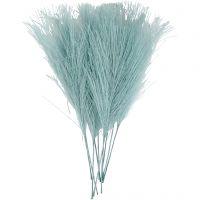 Plumes artificielles, L: 15 cm, L: 8 cm, turquoise, 10 pièce/ 1 Pq.