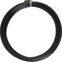 Fil d'aluminium, rond, ép. 2 mm, noir, 10 m/ 1 rouleau