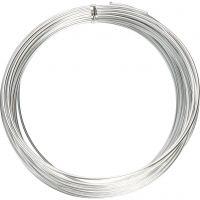 Fil d'aluminium, rond, ép. 2 mm, argent, 10 m/ 1 rouleau