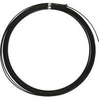 Fil d'aluminium, plat, L: 3,5 mm, ép. 0,5 mm, noir, 4,5 m/ 1 rouleau