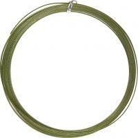 Fil d'aluminium, plat, L: 3,5 mm, ép. 0,5 mm, vert, 4,5 m/ 1 rouleau