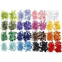 Mini-mosaïques, dim. 5x5+10x10 mm, 32x25 gr/ 1 Pq.