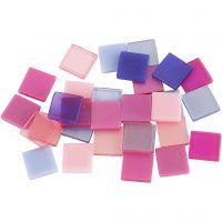 Mini-mosaïques, dim. 10x10 mm, violet/violet foncé, 25 gr/ 1 Pq.