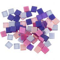 Mini-mosaïques, dim. 5x5 mm, violet/violet foncé, 25 gr/ 1 Pq.