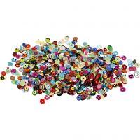 Paillettes, rondes, d: 6 mm, 10 gr/ 1 Pq.