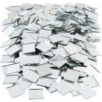 Tesselles de mosaïques miroirs, dim. 16x16 mm, 500 pièce/ 1 Pq.