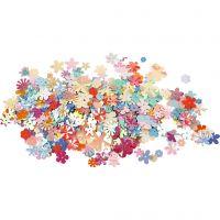 Sequins, d: 5-20 mm, couleurs pastel, 10 gr/ 1 Pq.