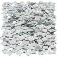 Tesselles de mosaïques miroirs, dim. 10x10 mm, 500 pièce/ 1 Pq.