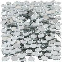 Tesselles de mosaïques miroirs, rond, d: 10 mm, 500 pièce/ 1 Pq.