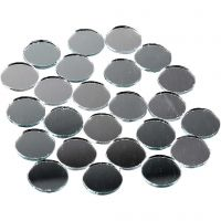 Tesselles de mosaïques miroirs, rond, d: 18 mm, 400 pièce/ 1 Pq.