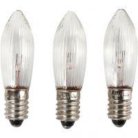 Ampoules LED, H: 45 mm, d: 15 mm, 3 pièce/ 1 Pq.