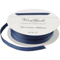Ruban décoratif, L: 6 mm, bleu, 15 m/ 1 rouleau
