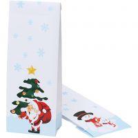 Sac de cadeaux de Noël, dim. 10x6x28 cm, 100 pièce/ 1 Pq.