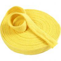 Tricot tubulaire, L: 30 mm, jaune, 1 m/ 1 Pq.
