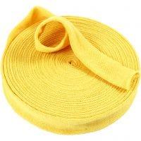 Tricot tubulaire, L: 40 mm, jaune, 75 cm/ 1 Pq.