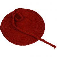 Tricot tubulaire, L: 10 mm, rouge antique, 10 m/ 1 rouleau