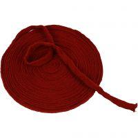 Tricot tubulaire, L: 15 mm, rouge antique, 10 m/ 1 rouleau