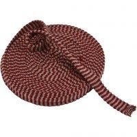 Tricot tubulaire, L: 22 mm, rouge antique/gris, 10 m/ 1 rouleau