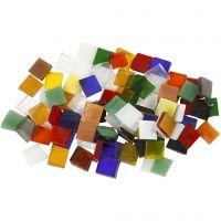 Mosaïques en verre, dim. 10x10 mm, 454 gr/ 1 Pq.