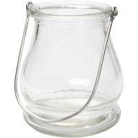 Lanterne, H: 10 cm, d: 9 cm, 12 pièce/ 1 boîte