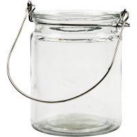 Lanterne, H: 10 cm, d: 7,6 cm, 2 pièce/ 1 Pq.