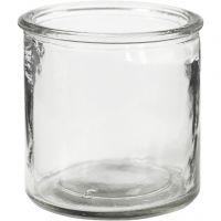 Bougeoir pour bougies chauffe-plat, H: 7,8 cm, 6 pièce/ 1 boîte
