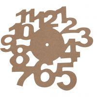 Cadran horloge, d: 30 cm, ép. 3 mm, 1 pièce