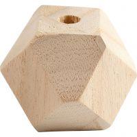 Perle en forme de diamant, L: 43 mm, diamètre intérieur 8 mm, 3 pièce/ 1 Pq.