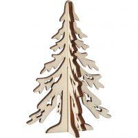 Sapin de Noël, H: 12,5 cm, L: 8,5 cm, 1 pièce