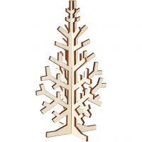 Sapin de Noël, H: 20 cm, L: 12 cm, 1 pièce