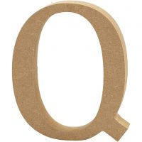 Lettre, Q, H: 13 cm, ép. 2 cm, 1 pièce