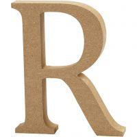 Lettre, R, H: 13 cm, ép. 2 cm, 1 pièce