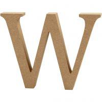 Lettre, W, H: 13 cm, ép. 2 cm, 1 pièce