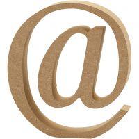 Symbole en MDF, @, H: 13 cm, ép. 2 cm, 1 pièce