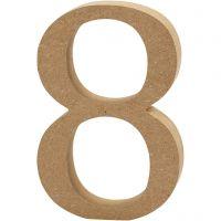 Chiffre, 8, H: 13 cm, ép. 2 cm, 1 pièce
