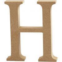 Lettre, H, H: 8 cm, ép. 1,5 cm, 1 pièce