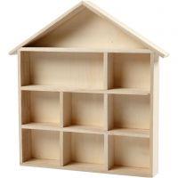 Maison étagère, H: 3,5 cm, dim. 26x25,2 cm, 1 pièce