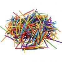 Allumettes, L: 5 cm, couleurs assorties, 500 gr/ 1 Pq., 4300 pièce