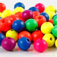 Neonmix, d: 10 mm, diamètre intérieur 2,5 mm, couleurs néons, 18 gr/ 1 Pq.