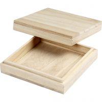 Boîte, H: 3 cm, dim. 10x10 cm, 1 pièce