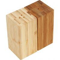 Ensemble sel et poivre, H: 9 cm, L: 5 cm, diamètre intérieur 3 mm, 1 set