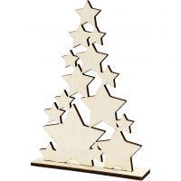 Sapin de Noël, H: 29,8 cm, prof. 4 cm, L: 21,5 cm, 1 pièce