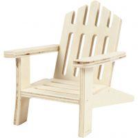 Chaise de jardin, H: 9 cm, L: 7,5 cm, 1 pièce