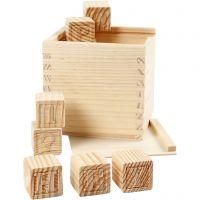 Cubes lettres, dim. 3x3x3 cm, 27 pièce/ 1 Pq.